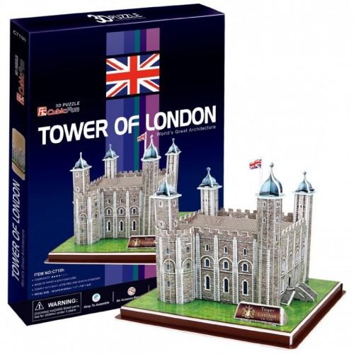 3D пазл Лондонский Тауэр (Великобритания) CubicFun