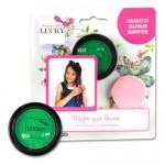 Lucky пудра для волос в наборе со спонжем цвет: зеленый масса 35 г.