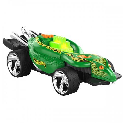 Машинка Hot Wheels свет+звук электромеханическая питон зелёная 23 см