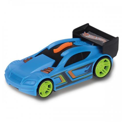 Машинка Hot Wheels свет+звук голубая 13 см