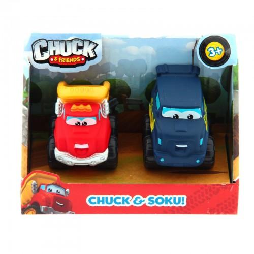Машинки 5 см (набор 2 шт.) Chuck and Friends