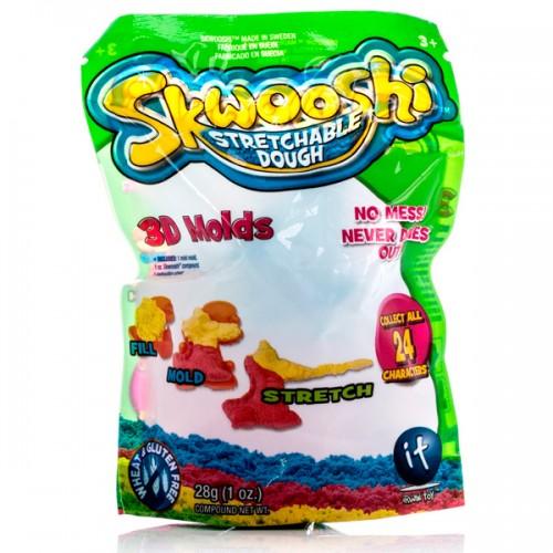 Пакетик с формочкой и массой для лепки 28 гр Skwooshi