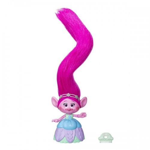 Поопи с супер длинными поднимающимися волосами Trolls