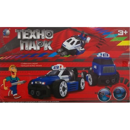 Развивающий конструктор Технопарк 3 модели Полиция Tongde