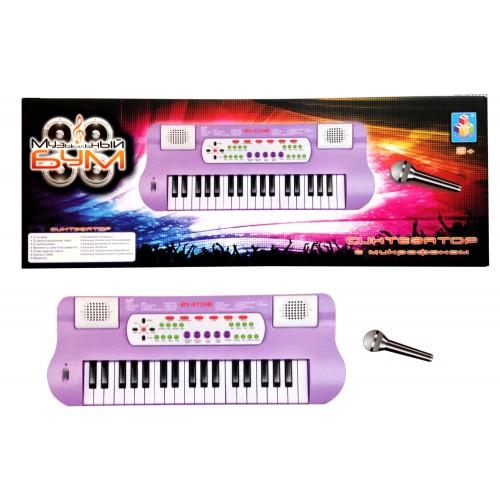 Синтезатор 37 клавиш и микрофон Музыкальный Бум 1TOY
