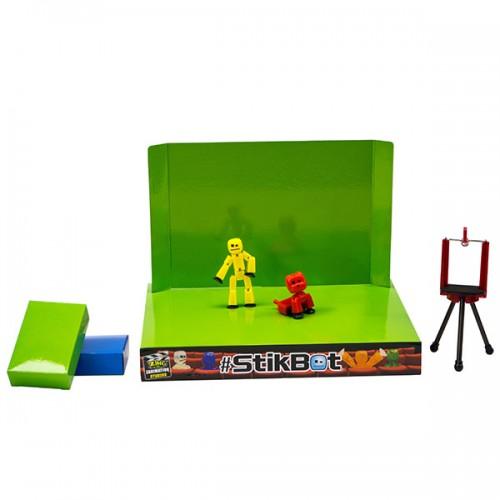 Stikbot анимационная студия со сценой и питомцем