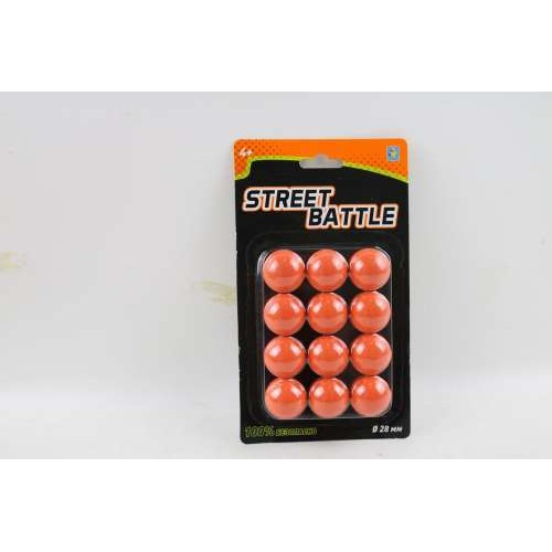 Street Battle Мягкие шарики 2,8 см для игр оружия (12 шт.) 1TOY