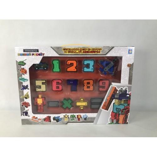 Трансботы Боевой расчет (10 цифр, 5 знаков, коробка с окном)