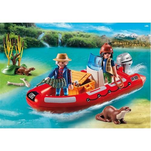В Поисках Приключений: Лодка с браконьерами Playmobil (Плеймобил)