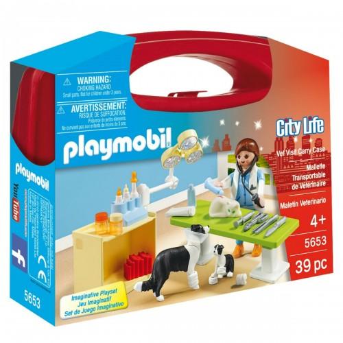 Возьми с собой: Посещение ветеринарной клиники Playmobil