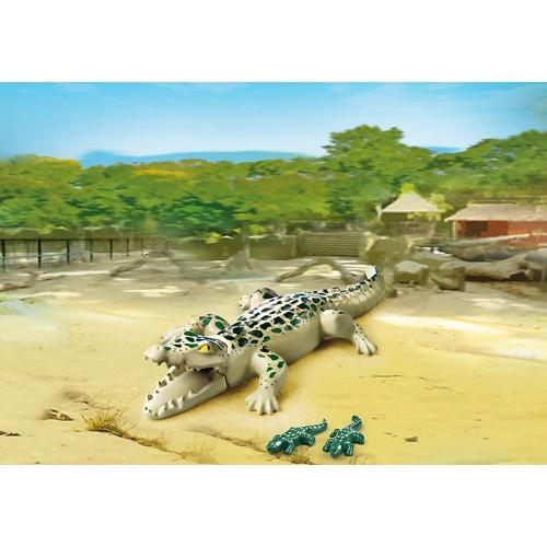 Зоопарк: Аллигатор с детенышами Playmobil (Плеймобил)