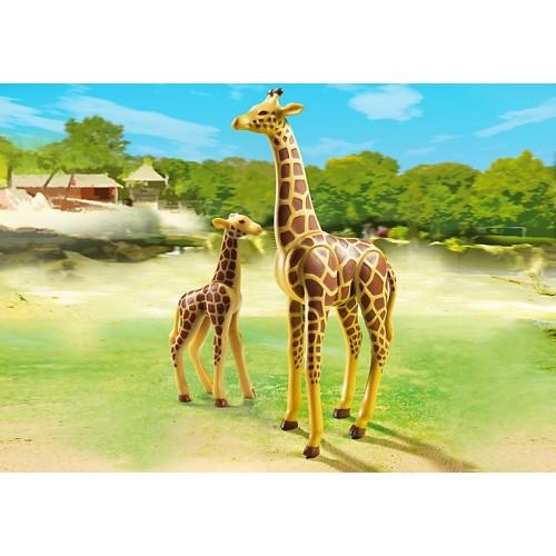 Зоопарк: Жираф со своим детенышем жирафом Playmobil (Плеймобил)