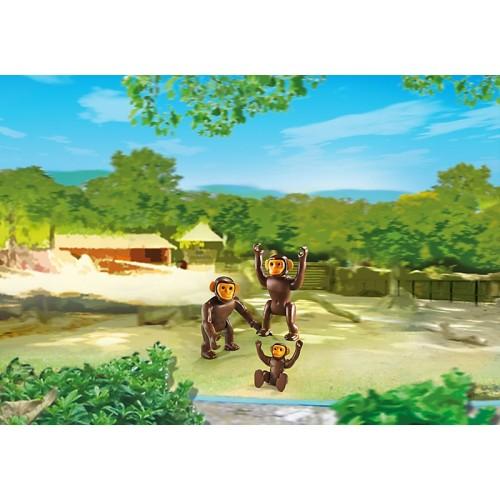 Зоопарк: Семья Шимпанзе Playmobil (Плеймобил)