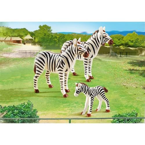 Зоопарк: Семья Зебр Playmobil (Плеймобил)