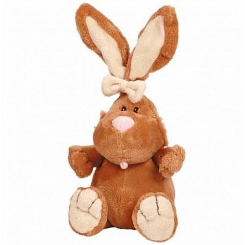 Кролик КОРИЧНЕВЫЙ сидячий, 23cм Gulliver 7-42044