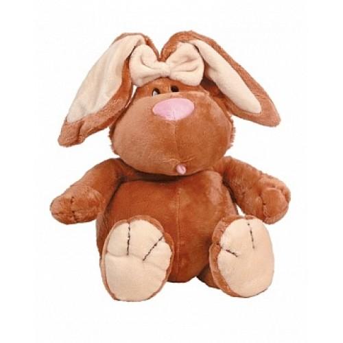 Кролик КОРИЧНЕВЫЙ сидячий, 40см Gulliver 7-42045