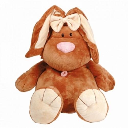 Кролик КОРИЧНЕВЫЙ сидячий, 71см Gulliver 7-42047