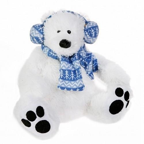 Мишка полярник в наушниках. 27 см Button Blue 42-120373