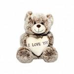 Мишка Сёма с сердечком. 18 см