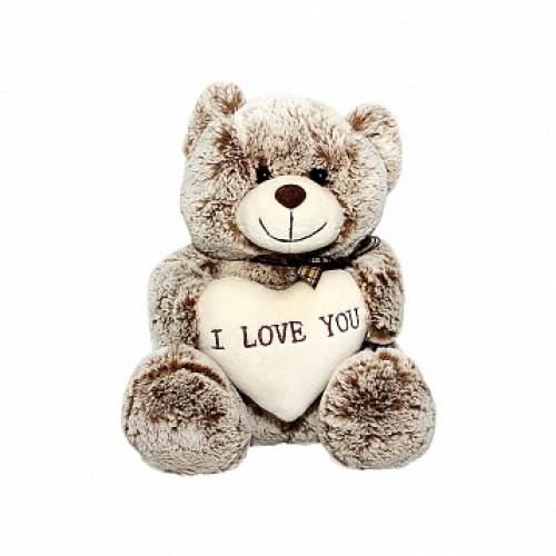 Мишка Сёма с сердечком. 18 см Button Blue 41-TDC1073A11