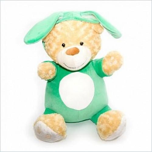 Медвежонок сидячий в костюме зайчика,45см Gulliver 26-10029