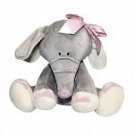 Слоник с розовым бантиком, 25 см