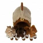 Домик-сумка с 3-мя лошадками