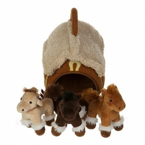 Домик-сумка с 3-мя лошадками Gulliver 21-912081