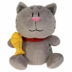 Кот Котофей с рыбкой в руке, 35cm