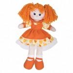 Кукла Апельсинка в платье с сердечками, 40см