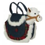 Лошадка в джинсовой сумочке, два цвета в ассортименте, 16 см