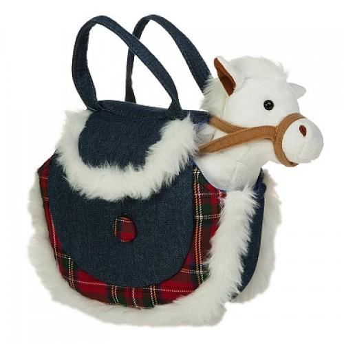 Лошадка в джинсовой сумочке, два цвета в ассортименте, 16 см Gulliver 21-911640