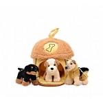 Домик-сумка с 3-мя собачками