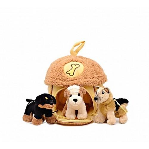 Домик-сумка с 3-мя собачками Gulliver 21-912051