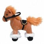 Лошадка стоячая, коричневая 23см