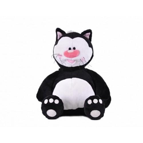Кот КОТЯ черный сидячий, 23см Gulliver 7-42809