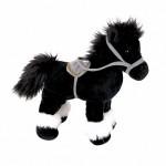 Лошадка стоячая, черная 20см