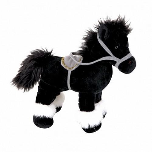 Лошадка стоячая, черная 20см Gulliver 21-920961-3