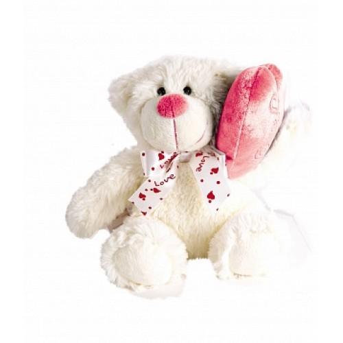 Мишка с сердечком-подушкой, 17 см Gulliver 21-910911D