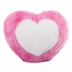 Подушка-сердечко с белым сердцем, 25 см