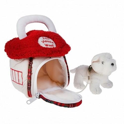 Домик-сумка с собачкой, бел. цвет 15 см Gulliver 21-922401