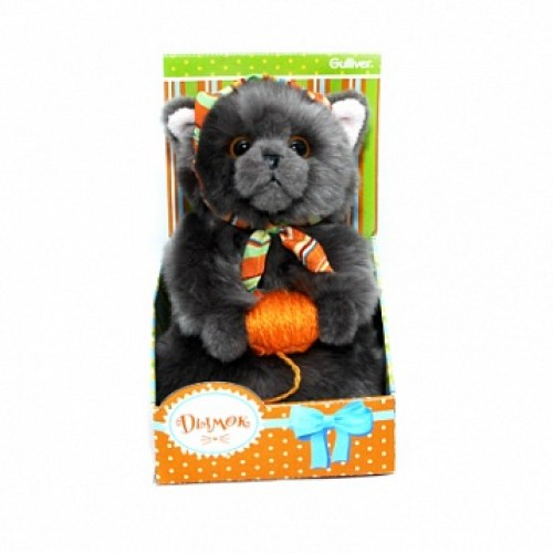 Котик Дымок в косынке с клубком, 19 см Gulliver 50-85202G