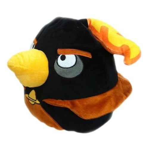 Angry Birds Space декоративная подушка чёрная птица Black Firebomb bird 25см 1TOY