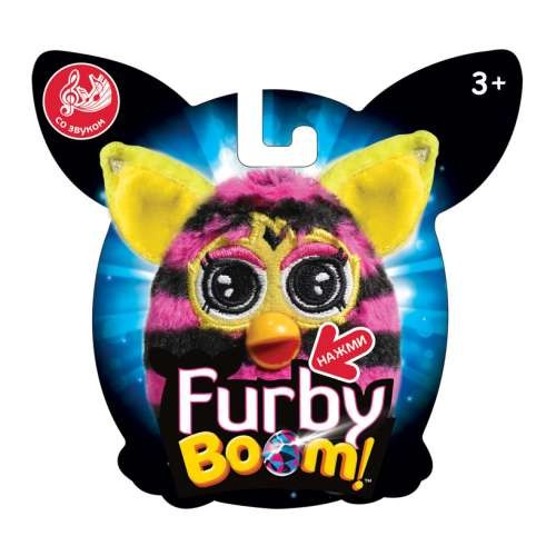 Furby в полоску плюшевая игрушка 11 см со звуком 1TOY