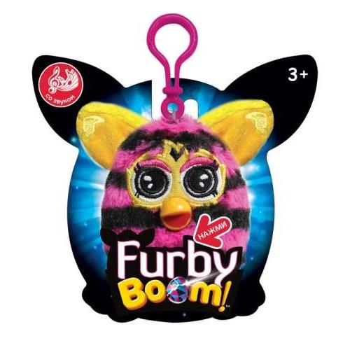 Furby в полоску плюшевый брелок 8 см со звуком 1TOY