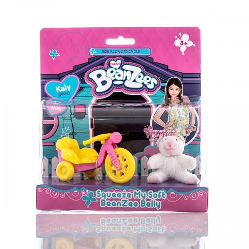 """Игровой набор плюшевый """"Котенок с велосипедом"""" Beanzees"""