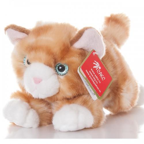 Котик рыжий 22см