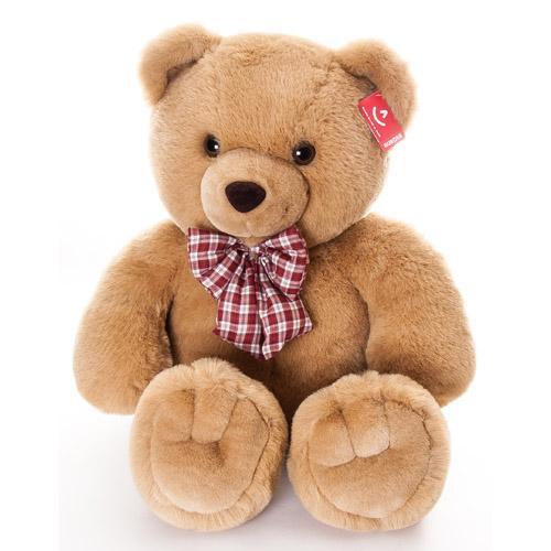 Медведь с клетчатым бантом 80 см