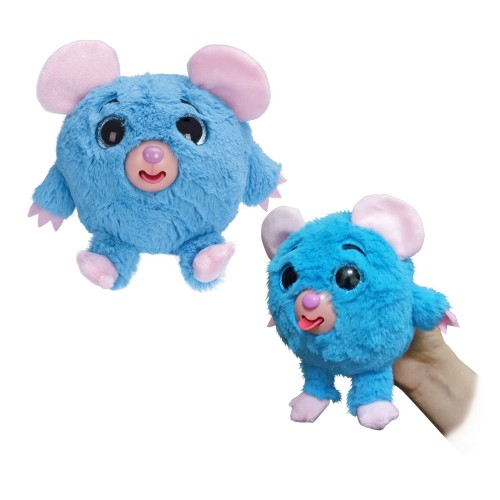 Плюшевая голубая мышка Дразнюка-Zooка 13см 1TOY