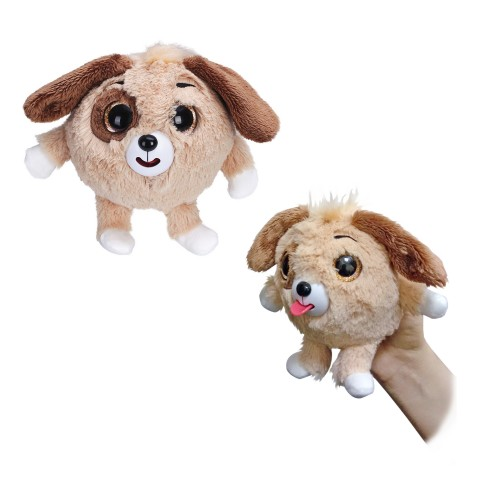 Плюшевая коричневая собачка Дразнюка-Zooка 13см 1TOY